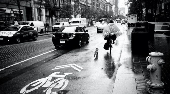 サンフランシスコの自転車レーンとTwitter社