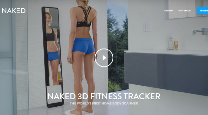 3Dスキャンしたボディーラインの変化をチェックできる体組成計|Naked 3D Fitness Tracker・ShapeScale