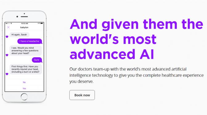 英NHS、BabylonのAIテクノロジーを活用し、病気の症状について質問することができるAIチャットアプリの試験開始
