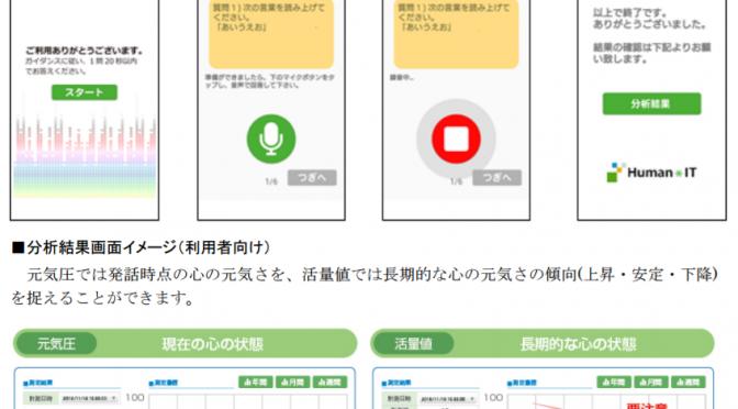 日立システムズがPSTと協業し、「音声こころ分析サービス」を開発 神奈川県が未病の早期発見に寄与するサービスを試行導入