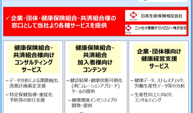 日本生命、健診・医療ビッグデータを活用した健康支援でヘルスケア事業に参入 野村総研・リクルートと連携|「Insurtech(インシュアテック)」と「健康経営」がキーワード