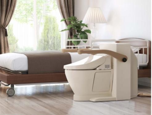 要介護者の排泄の自立支援、介助者の負荷軽減の目的で作られた『ベッドサイド水洗トイレ』