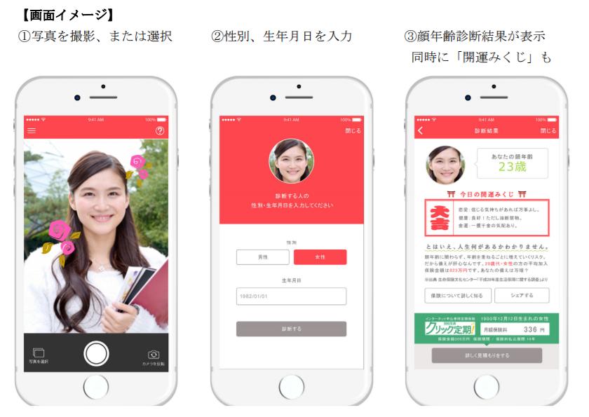 SBI生命保険、顔年齢を診断してくれる無料スマホアプリ『SBI生命顔年齢診断』をiOS向けに提供開始