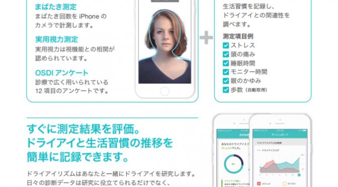 ドライアイ指数がチェックできるスマホアプリ「ドライアイリズム」|#順天堂大学