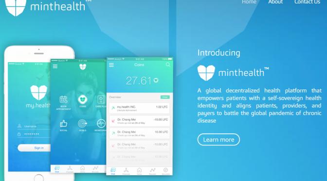 MintHealth|ブロックチェーン技術を活用した個人の健康記録プラットフォーム・健康増進行動を促すためのインセンティブ(トークン)