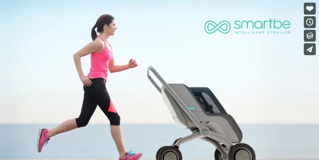 ママ・パパの子育てを助ける!自動運転・自動追尾機能を搭載するベビーカー「Smartbe」