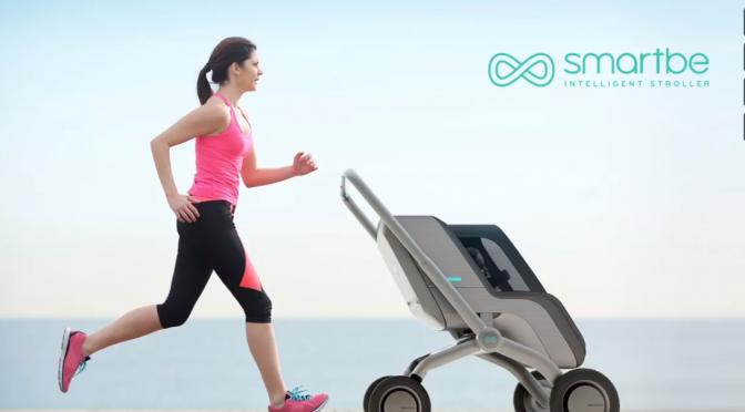 ママ・パパの子育てを助ける!自動運転・自動追尾機能を搭載するベビーカー「Smartbe」|高齢者が買い物の時の重い荷物を運ぶキャリーバッグにするアイデア