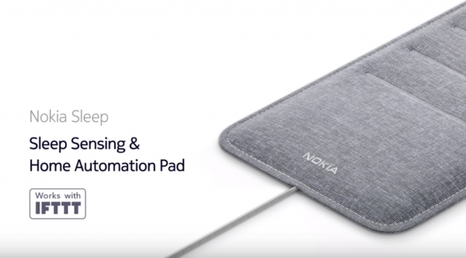 Nokia Sleep|IFTTTによるスマートホーム管理機能(照明やサーモスタットのスイッチになる)を搭載した睡眠センサー #Sleeptech #Healthtech #CES2018