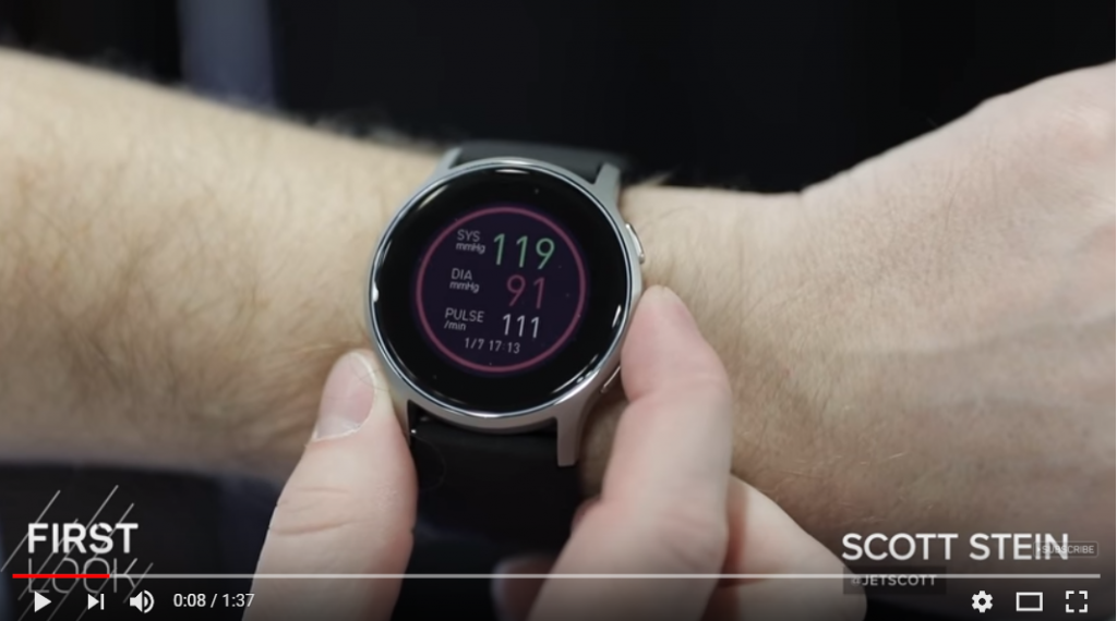 Omron HeartGuide watch brings blood-pressure measurements to CES 2018