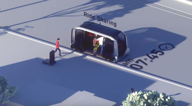 トヨタ、「車を売る会社」から「モビリティー・サービス企業」への転換|自動運転や電動化技術を用いた移動車両サービス「e-Palette Concept」の特徴|AmazonやUber、Pizza Hut、滴滴出行と提携| #CES2018