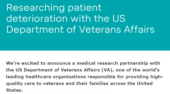 Researching patient deterioration with the US Department of Veterans Affairs