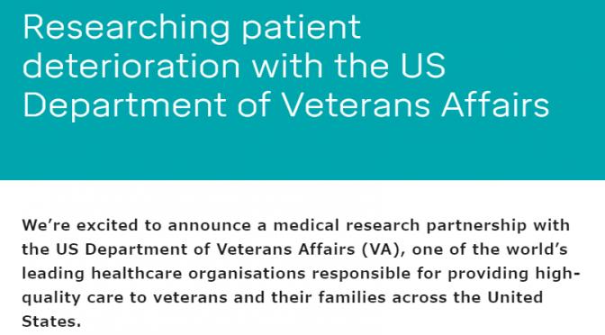 Deepmind、アメリカ退役軍人省(VA)との提携|約70万人分のデータをディープラーニング用学習データとして活用し、急性腎障害(AKI)のアルゴリズムの改善・開発を目指す