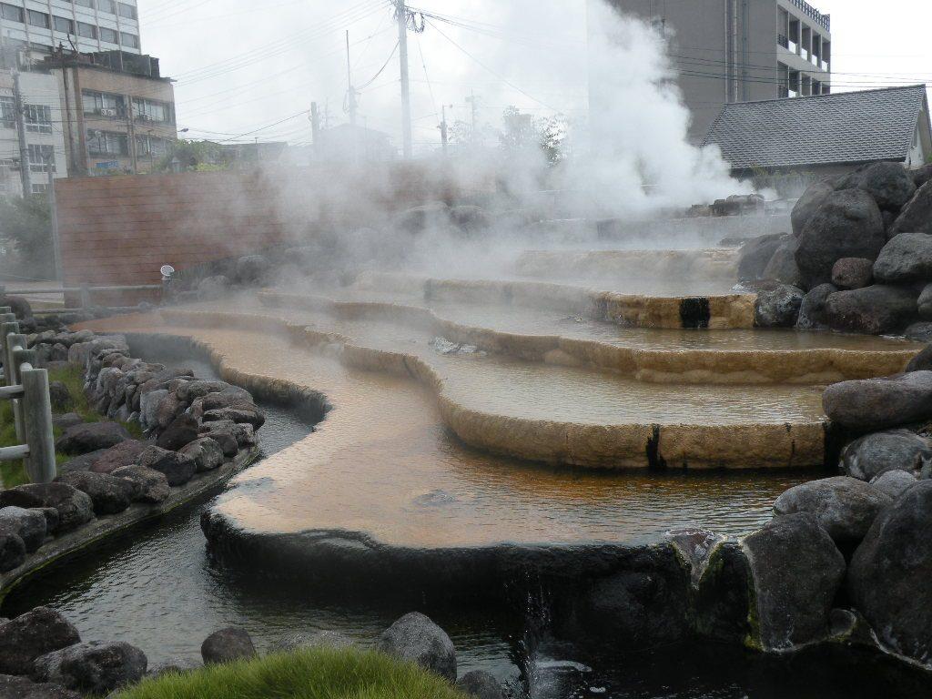 小浜温泉の湯気
