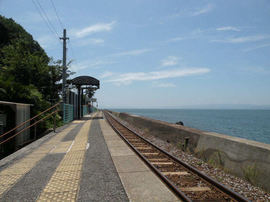 千綿駅の線路