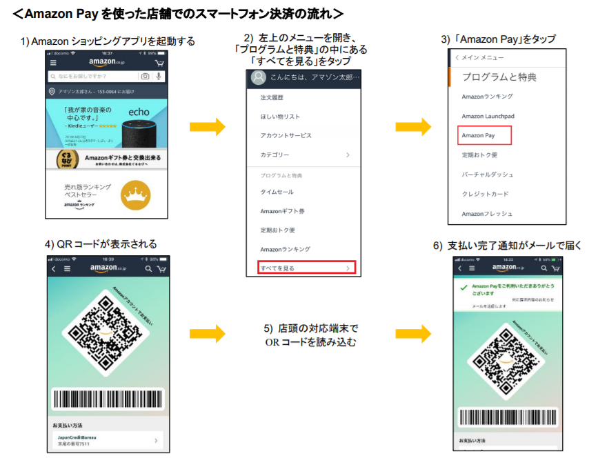 Amazon Pay、実店舗でのスマートフォン決済への対応を開始 ~ Amazon ショッピングアプリに表示される QR コードでお支払いが可能に ~