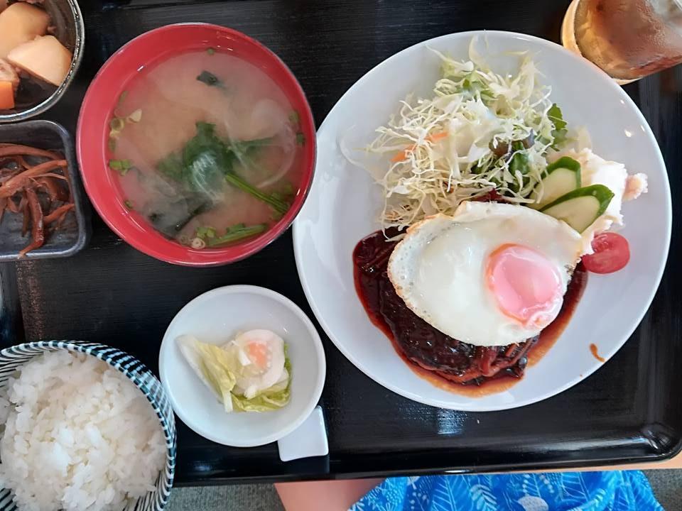 ハンバーグ目玉焼き付|Cafe Kou