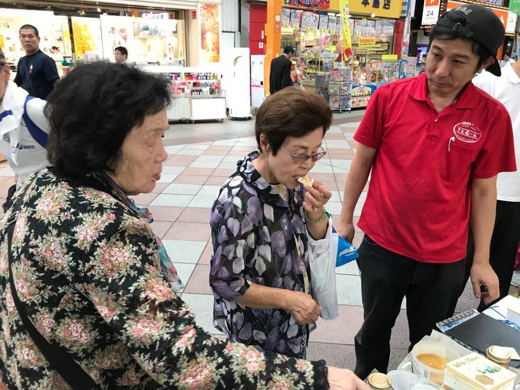 2018年9月12日に生産者市場さんむーんでおこなったはちみつ試食会