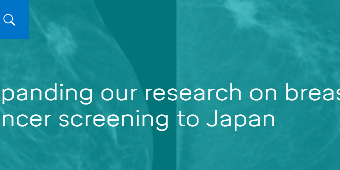 Expanding our research on breast cancer screening to Japan