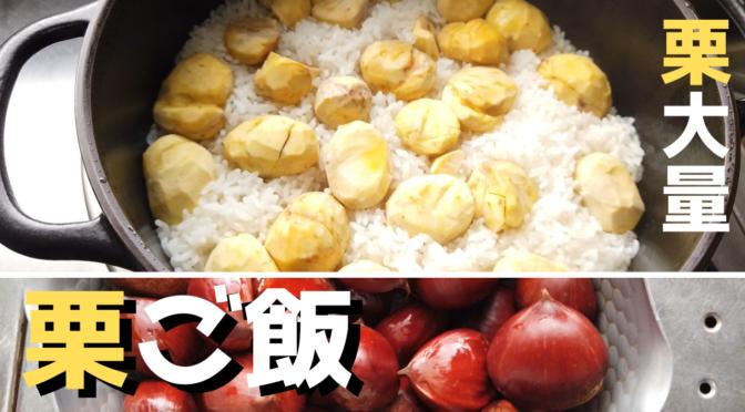 大きな栗をいっぱい使った贅沢栗ご飯の作り方・炊き方