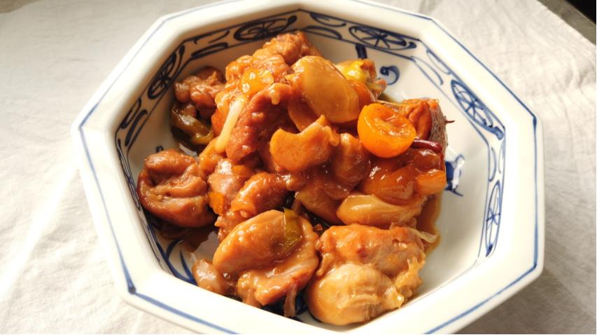 キンカンと鶏もも肉の煮物