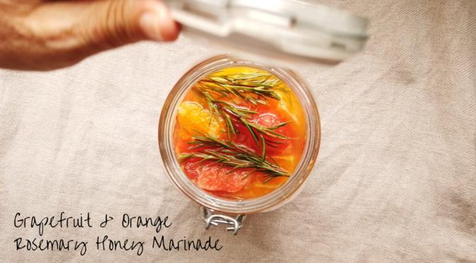 グレープフルーツ&オレンジのローズマリーはちみつマリネの作り方|How to make Grapefruit & orange rosemary honey marinade